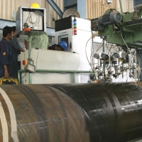 Offline Ultrasonic Testing of Steel Pipes