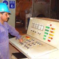External Coating Shot Blasting Operator Panel